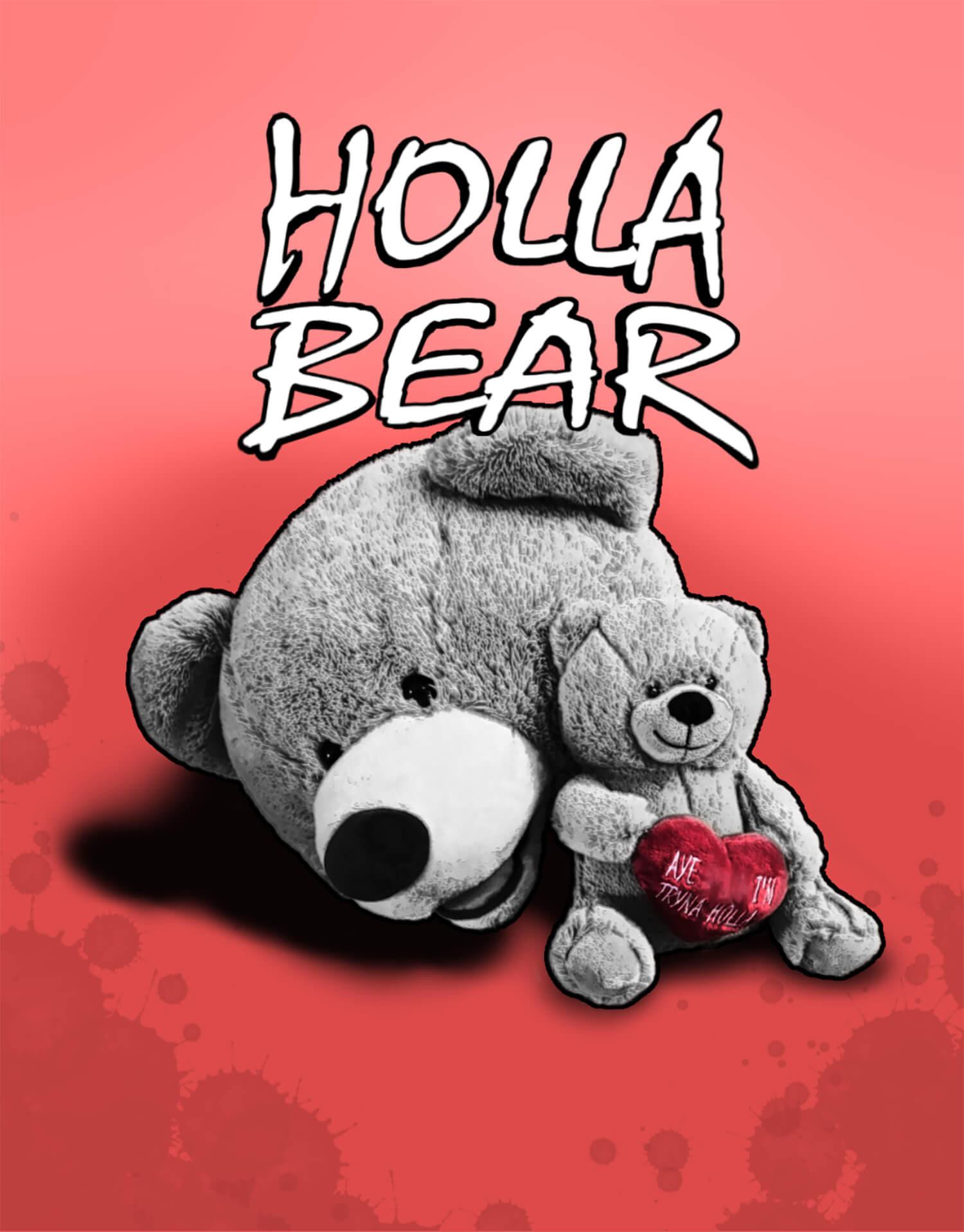 Holla Bear Poster